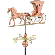 Good Directions Country Doctor Weathervane, Polished Copper