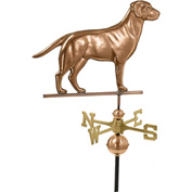 Good Directions Labrador Retriever Weathervane, Polished Copper