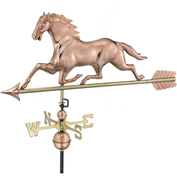 Good Directions Horse Weathervane w/ Arrow, Polished Copper