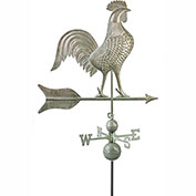 Good Directions Barn Rooster Estate Weathervane - Blue Verde Copper