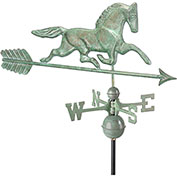 Good Directions Patchen Horse Weathervane w/ Arrow, Blue Verde Copper