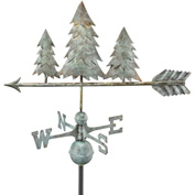 Good Directions Pine Trees Weathervane, Blue Verde Copper