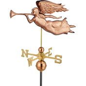 Good Directions Angel Weathervane, Polished Copper
