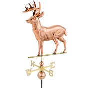 Good Directions Standing Deer Weathervane, Polished Copper