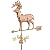 Good Directions Standing Deer Weathervane w/ Arrow, Polished Copper