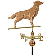 Good Directions Golden Retriever Weathervane, Polished Copper