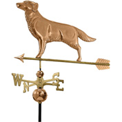 Good Directions Golden Retriever Weathervane w/ Arrow, Polished Copper