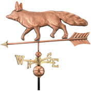 Good Directions Fox Weathervane, Polished Copper