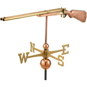 Good Directions Shotgun Weathervane, Polished Copper