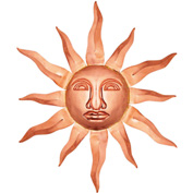 Good Directions Medium Sunface, Polished Copper Decor