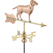 Good Directions Labrador Retriever Garden Weathervane, Polished Copper w/Garden Pole