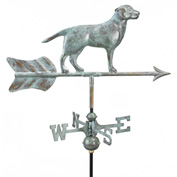 Good Directions Labrador Retriever Garden Weathervane, Blue Verde Copper w/Roof Mount