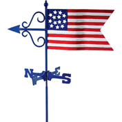 Good Directions Americana Flag Garden Weathervane w/Roof Mount