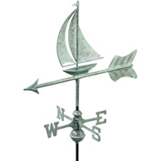 Good Directions Sailboat Garden Weathervane, Blue Verde Copper w/Roof Mount