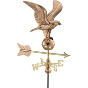 Good Directions Eagle Garden Weathervane, Polished Copper w/Garden Pole