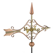 Good Directions Victorian Arrow Garden Weathervane, Polished Copper w/Garden Pole