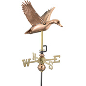 Good Directions Flying Duck Garden Weathervane, Polished Copper w/Garden Pole