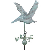 Good Directions Pelican Weathervane, Blue Verde Copper