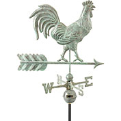 Good Directions Smithsonian Rooster Weathervane, Blue Verde Copper
