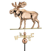 Good Directions Moose Weathervane, Polished Copper