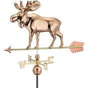 Good Directions Moose Weathervane w/ Arrow, Polished Copper