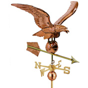 "Good Directions 34"" Smithsonian Eagle Estate Weathervane, Polished Copper"