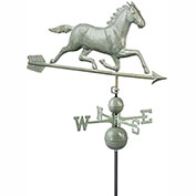Good Directions Large Horse Estate Weathervane - Blue Verde Copper