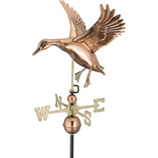 Good Directions Landing Duck Weathervane, Polished Copper