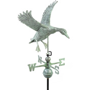 Good Directions Landing Duck Weathervane, Blue Verde Copper
