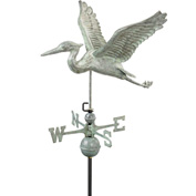 Good Directions Blue Heron Weathervane, Blue Verde Copper