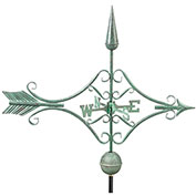 Good Directions Victorian Arrow Weathervane, Blue Verde Copper