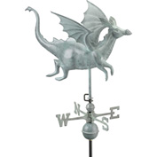 Good Directions Dragon Weathervane, Blue Verde Copper