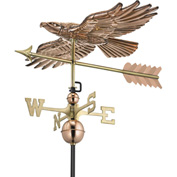 Good Directions Soaring Hawk Weathervane, Polished Copper