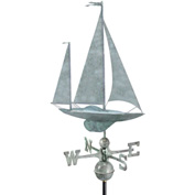 Good Directions Yawl Weathervane, Blue Verde Copper
