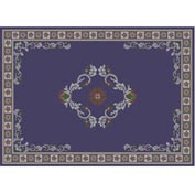 "Decor Mat - Blue 72"" x 96"""