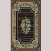 "Decor Mat - Oriental Chocolate 36"" x 60"""