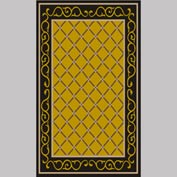 "Decor Mat - Lattice Gold 36"" x 60"""