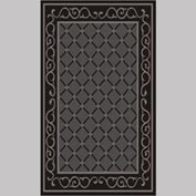 "Decor Mat - Lattice Charcoal 36"" x 60"""
