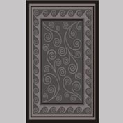 "Decor Mat - Swirl Silver 36"" x 60"""