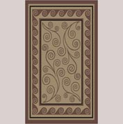 "Decor Mat - Swirl Chocolate 36"" x 60"""