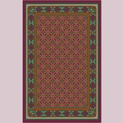 "Decor Mat - Burgundy 48"" x 72"""