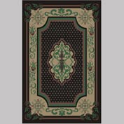 "Decor Mat - Oriental Black 48"" x 72"""