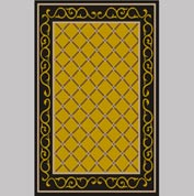 "Decor Mat - Lattice Gold 48"" x 72"""