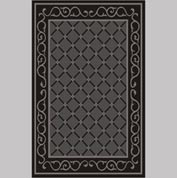 "Decor Mat - Lattice Charcoal 48"" x 72"""