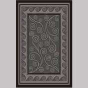 "Decor Mat - Swirl Silver 48"" x 72"""
