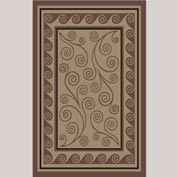 "Decor Mat - Swirl Chocolate 48"" x 72"""