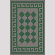 "Decor Mat - Checkerboard Green 48"" x 72"""