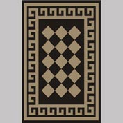 "Decor Mat - Checkerboard Suede 48"" x 72"""