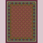 "Decor Mat - Burgundy 72"" x 96"""