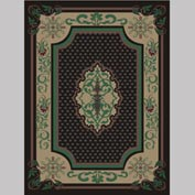 "Decor Mat - Oriental Black 72"" x 96"""